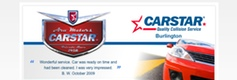 CarStar Burlington site design