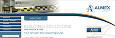Image of Almex Group website