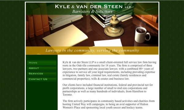 Kyle & van der Steen website